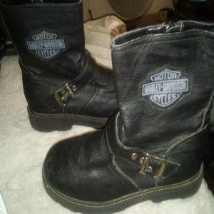 Harley Davidson pu biker boots
